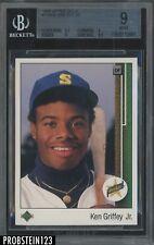 1989 Upper Deck Star Rookie #1 Ken Griffey Jr. Seattle Mariners RC HOF BGS 9
