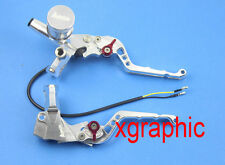"""CNC Brake Clutch Levers Master Cylinder For Ruckus Zoomer 7/8"""" Adelin PX-2 silve"""