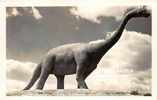 Rapid City Sd Dinosaur Park Brontosaurus Signed Bell Real Photo Postcard