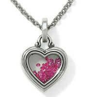 Brighton PURE LOVE Heart💘 CRYSTAL FILLED LONG Necklace TAGS  GIFT BAG  $88