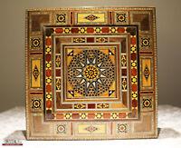 Boîte à bijoux coffret en bois handkraft avec nacre, neuf en Syrie, K 2-2-47 FEU