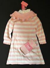 NWT Gymboree Prima Ballerina Pink Girl One Piece Sweater Dress Tights Set 3 3T