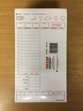 """500 Large Single Copy Cardboard Guest Checks (T6932Sp) 5"""" x 9"""" - Sealed New"""