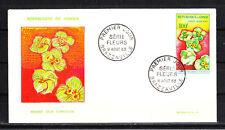 Congo  enveloppe  1er jour  fleurs  100f    1963