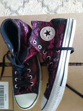 Converse All Star Pink/Purple Hi Top Tennis Shoes Womens 10 Mens 8 Wore 1X Euc