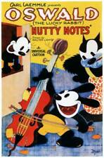 OLD MOVIE PHOTO Nutty Notes Poster Center Oswald The Lucky Rabbit 1929