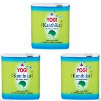 10x Yogi Kanthika Pills for Throat Relief, Ayurvedic Pills Sugar Free +free ship