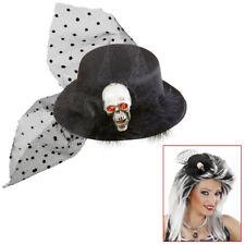 Hut Nachthexe Hexenhut Rabe Hexe schwarze Federn Halloween Gothic 123862813