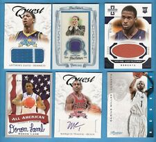 JOHN CALIPARI RELIC ANTHONY DAVIS ROOKIE JERSEY GILCHRIST RC TEAGUE LAMB AUTO UK