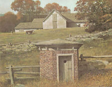 Old Rock Spring House 1970s print by Eric Sloane
