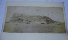 "c1880s ROCK of GIBRALTAR 11"" x 5¼"" Original ALBUMEN PHOTOGRAPH"