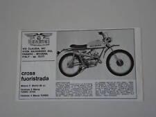 advertising Pubblicità 1972 NEGRINI CROSS FUORIS. 49 cc