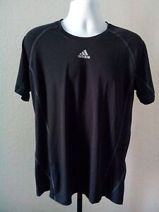 Original NWT Adidas Men's Fitted ShortSleeve Top Black