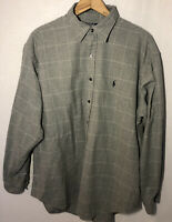 Vintage Polo by Ralph Lauren L/S Button Up Flannel Shirt Lowell Sport Mens Large