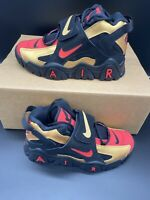 Nike Air Barrage Black Red Gold Sneakers CT1573-700 Mens Size 9 NEW