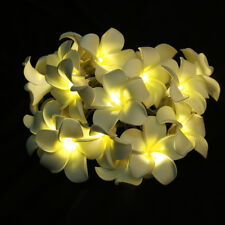 20-LED Battery Operated Diwali Decor Plumeria Flower String Fairy Lights Decor