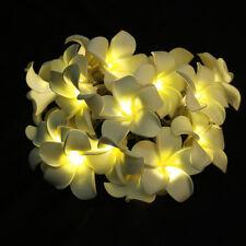 20-LED Battery Operated Diwali Decor Plumeria Flower String Fairy Lights Decor