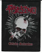 ASESINO-CRISTO SATANICO-WOVEN PATCH-BLACK BORDERS
