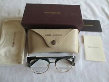 55492ccc9b61 Gigi Barcelona gold   green cat s eye glasses frames. Riviere. With case.