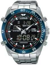 Lorus Mens Dual Time Stainless Steel RW623AX9 Watch