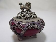 Vintage Red Coral Chinese Old Handwork Carving Kirin Incense Burner