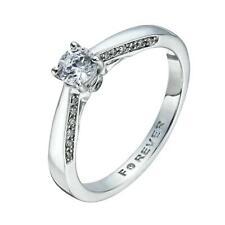 H Samuel 18 Carat White Gold 0.40 Carat THE FOREVER DIAMOND Ring Size N 3.6g