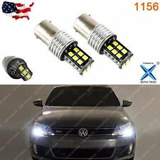Error Free White 15-SMD LED Bulbs for 2011+ Volkswagen Jetta Daytime DRL Light