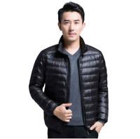 Mens Packable Lightweight Down Jacket Puffer Parka Coat Stand Collar UltraLight