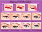 ORIGINAL 80pcs Quick Eyeliner Stickies Stencils Perfect Eye Makeup Tool UK1