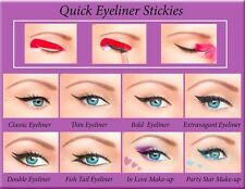 ORIGINAL 80pcs Quick Eyeliner Stickies Stencils Perfect Eye Makeup Tool UK1