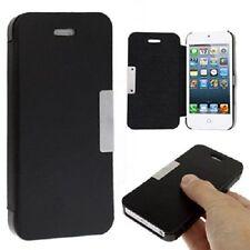 Cover Case Book per Iphone 5 5S 5 S Top Quality chiusura magnetica nera