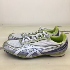 ASICS - HYPER ROCKET GIRL - Womens Metallic White Purple Track Shoes, Sz 9
