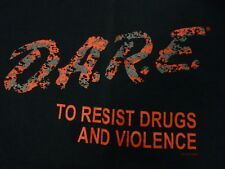 D.A.R.E / DARE Red Digital Camouflage / Urban Camo - Men's Large Black T-Shirt