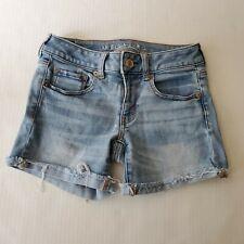 American Eagle Denim Jean Shorts Super Super Stretch Size 2