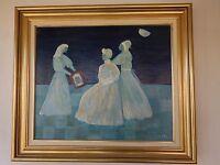 Peinture à l'huile sur toile Les Dames blanches MJN ARTBOOK by PN