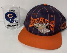 Vintage Chicago Bears Snapback Cap Hat Looney Tunes Taz with Chicago Bears Glass