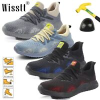 Men's Safety Work Shoes Steel Toe Cap Boots Tennis Sneakers Hiking Racer Sports