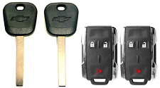 2 Chevtolet 2014-2017 B119 Transponder key + 3 Button Remote Fob M3N-32337100 A+