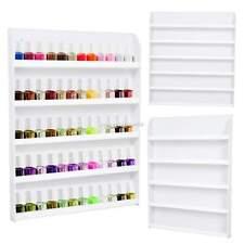 Big 5 Tier Nail Polish Salon Wall Display Rack Stand 60 Bottles Acrylic