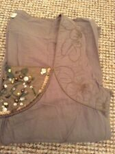 Rocha John Rocha Olive Green Embroidered Top Blouse Size 12