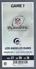2017-18 NFL ATLANTA FALCONS @ RAMS FULL UNUSED WILD CARD PLAYOFF FOOTBALL TICKET