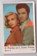 1962 DUTCH GUM ELVIS PRESLEY & LIZABETH SCOTT ORIGINAL CARD #172 SERIE A VG COND