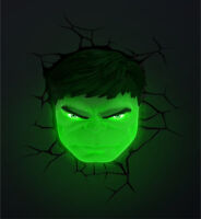 3D Marvel Hulk Face Wall Night Light