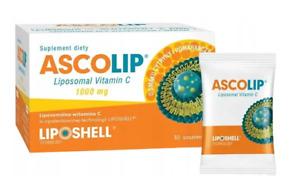 Ascolip Liposomal Vitamin C 1000mg 30 sachets, Immunity Support, Free P&P