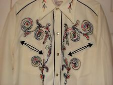 New listing Vintage H Bar C California Rockabilly embroidered Hollywood Cowboy Shirt sz 16