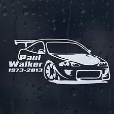 Paul Walker 1973-2013 The Fast and Furious Car Decal Vinyl Sticker