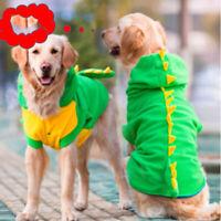 Pet Dog Cat Puppy Halloween Hooded Dinosaur Costume Hoodie Fancy Dress Clothes