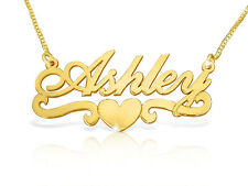 Custom Made Personalized Pure 14k Gold Name Necklace