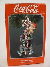 "Coca Cola ""Holiday Stars"" 1994 Enesco Elf Sprite Christmas Tree Light Ornament"