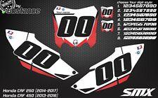 Honda Custom number plates backgrounds CRF 450 number boards 2014 2015 CRF250R